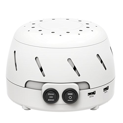 pictek white noise machine sound therapy sleep easy sound conditioner with 2 usb output. Black Bedroom Furniture Sets. Home Design Ideas
